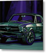 Ford Mustang 1967 Painting Metal Print