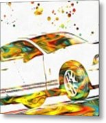 Ford Mustang Paint Splatter Metal Print