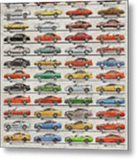 Ford Mustang Timeline History 50 Years Metal Print