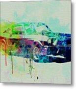 Ford Mustang Watercolor 2 Metal Print