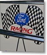Ford Racing Emblem Metal Print