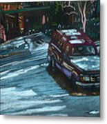 Ford Range In The Snow Metal Print