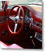 Ford Thunderbird 57 Interior Metal Print