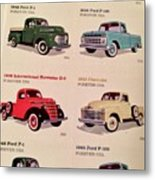 Ford Truck Stamps Metal Print