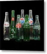 Foreign Cola Bottles Metal Print