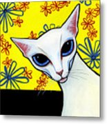 Foreign White Cat Metal Print