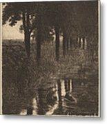 Forellenweiher (trout Pond) Metal Print