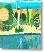 Forest At The Shore Metal Print