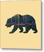 Forest Bear Metal Print