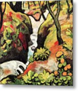 Forest Brook By August Macke Metal Print