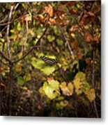 Forest Butterfly Metal Print