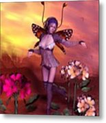 Forest Elf Dance Metal Print