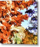 Forest Of Fall Colors Metal Print