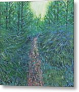Forest Of Green And Blue Metal Print