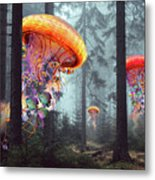 Forest Of Jellyfish Worlds Metal Print
