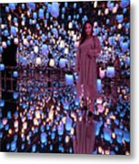 Forest Of Resonating Lamps Metal Print