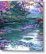 Forest River Scene. L A Metal Print