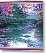 Forest River Scene. L B With Alt. Decorative Ornate Printed Frame. No. 1 Metal Print