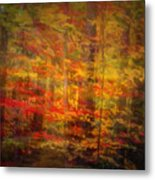 Colorful Forest, Smoky Mountains, Tennessee Metal Print