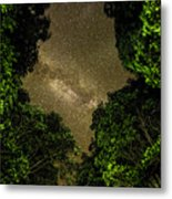 Forest Star Patch Metal Print