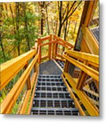 Forest Tower Steps Metal Print