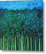 Forest Under The Full Moon - Abstract Metal Print