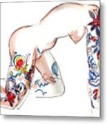 Forever Amber - Tattoed Nude Metal Print