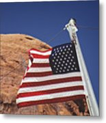 Forever May She Wave Metal Print