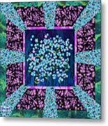 Forget Me Nots Fabric By Clothworks Metal Print