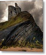 Forgotten Castle In Ballybunion Metal Print