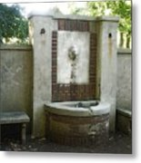Forgotten Fountain Metal Print