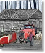 Forgotten Old Timers Metal Print