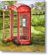 Forgotten Phone Booth Metal Print