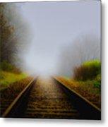 Forgotten Railway Track Metal Print