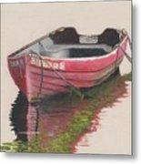 Forgotten Red Boat II Metal Print