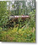 Forgotten Train Engine Metal Print