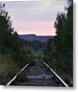 Forgotten Train Track Metal Print