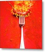 Forking Hot Food Metal Print