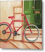 Forlorn Bike Metal Print