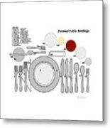 Formal Table Settings Metal Print