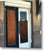 Former Waiting Room Doors Metal Print