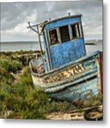Forsaken Fishing Boat Metal Print
