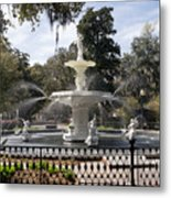 Forsyth Fountain Park Metal Print
