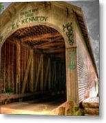 Forsythe Mill Bridge Metal Print