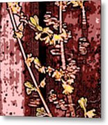 Forsythia Branch Metal Print