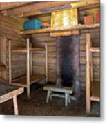 Fort Clatsop Living Quarters Metal Print