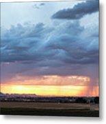 Fort Collins Colorado Sunset Lightning Storm Metal Print
