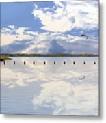 Fort Fisher Reflection Metal Print