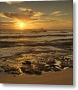 Fort Haze Beach Metal Print