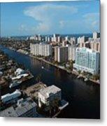 Fort Lauderdale Aerial Photography Metal Print